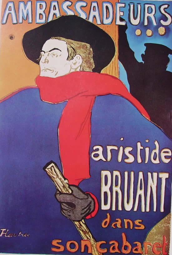 Toulouse-Lautrec: Ambassadeurs - Aristide Bruant