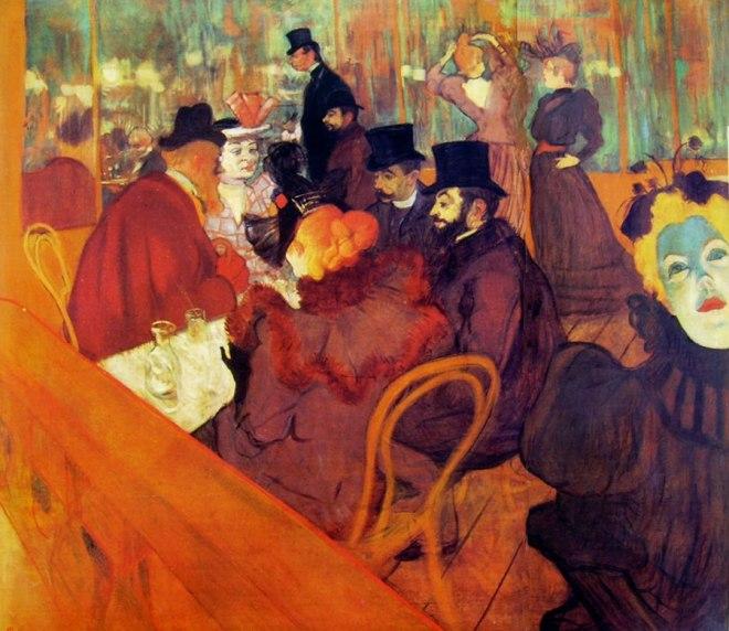 Toulouse-Lautrec: Al Promenoir del Moulin Rouge