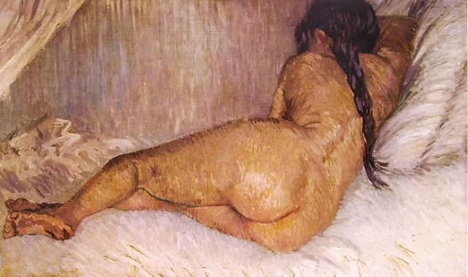 Nudo femminile (sdraiato di tergo)
