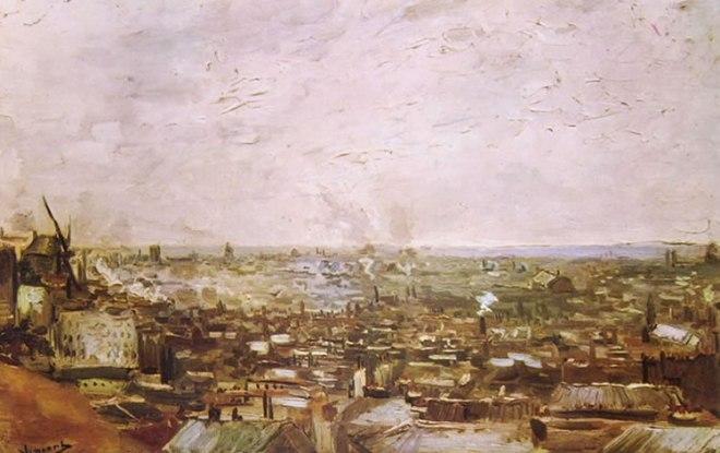 Veduta parigina da Montmartre