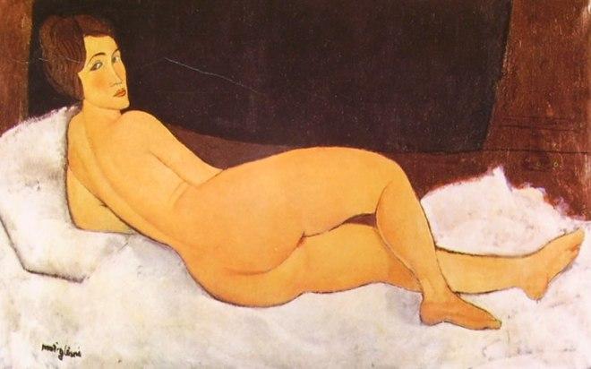Amedeo Modigliani: Nudo sdraiato sul fianco sinistro