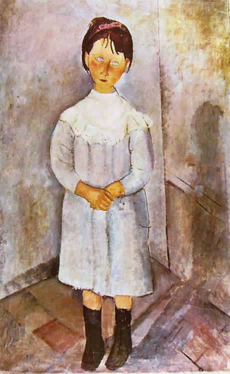 Amedeo Modigliani: Bambina in azzurro