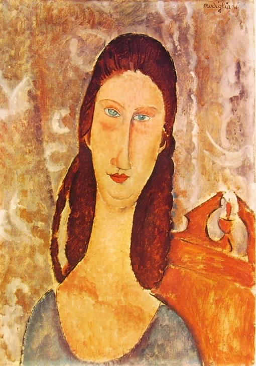 Amedeo Modigliani: Testa di Jeanne Hébuterne