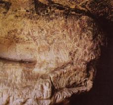 Incisioni rupestri: vulve e falli XV-VIII millennio a.C:. fase dei cacciatori