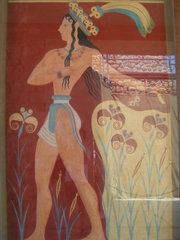 Un affresco del sito archeologico di Cnosso