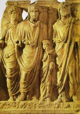 Gruppo allegorico della successione imperiale per adozione