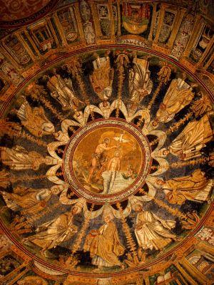 Decorazione musiva della cupola del Battistero degli Ortodossi