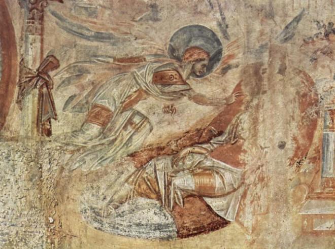 Affreschi di Castelseprio : Il sogno di San Giuseppe