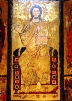 Trittico del SS Salvatore, Tivoli: Cristo