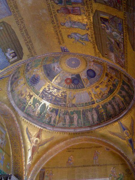 Storie della Genesi che rivestono una cupola dell'atrio della basilica di San Marco, Venezia