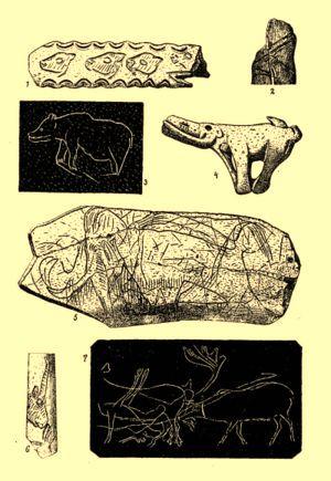 Manufatti artistici risalenti all'Età della Pietra