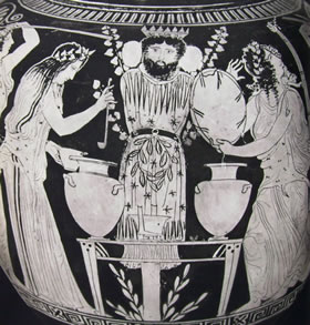 Pittore del Dinos: Danza delle baccanti intorno all'idolo di Dionisio