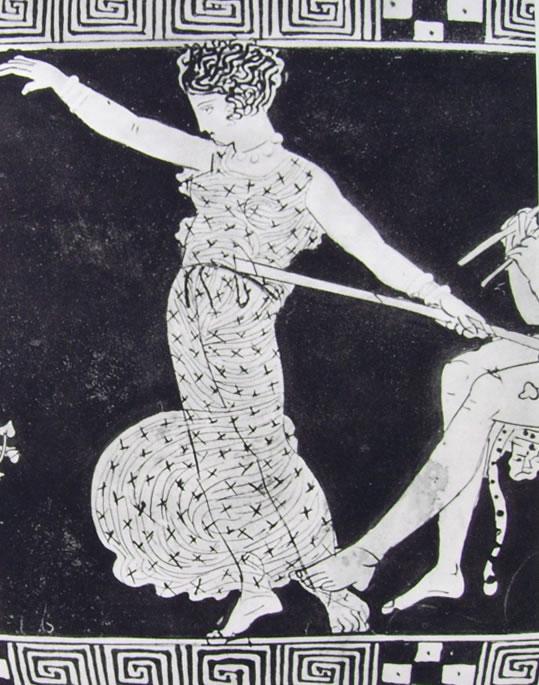 Pittore di Midia: menade danzante (Carlosruhe, Badisches Landesmuseum)