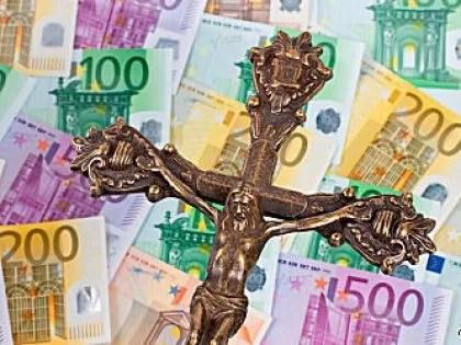 crocefisso gesù soldi euro