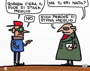 vignetta fascismo