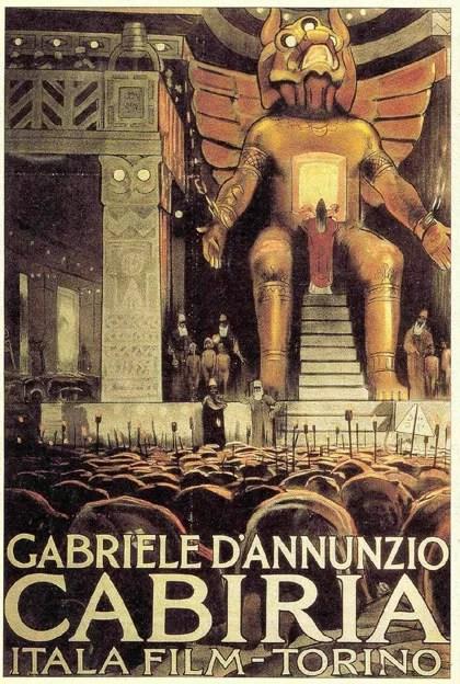 Locandina italiana del film Cabiria