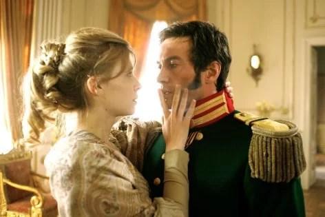 """""""Guerra e pace"""", miniserie televisiva prodotta dalla Lux Vide e RAI nel 2007.  In foto: Alessio Boni (Principe Andrej Bolkonskij) e Clémence Poésy  (Nataša Rostova)"""