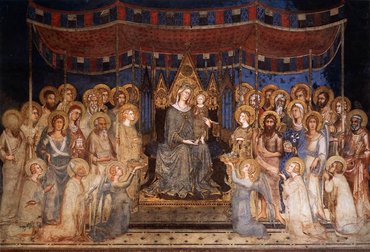 S. Martini, Maestà, affresco (1230-1235), Palazzo Pubblico, Siena