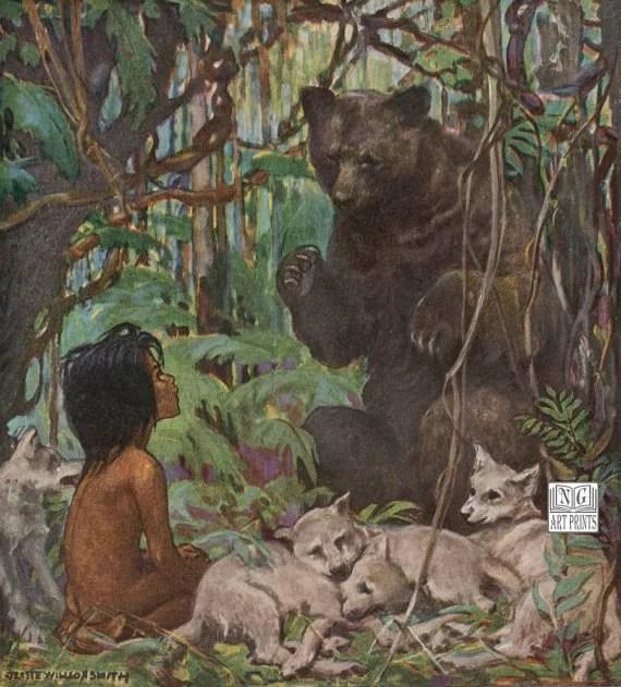 Il libro della giungla, illustrazione degli anni '20.