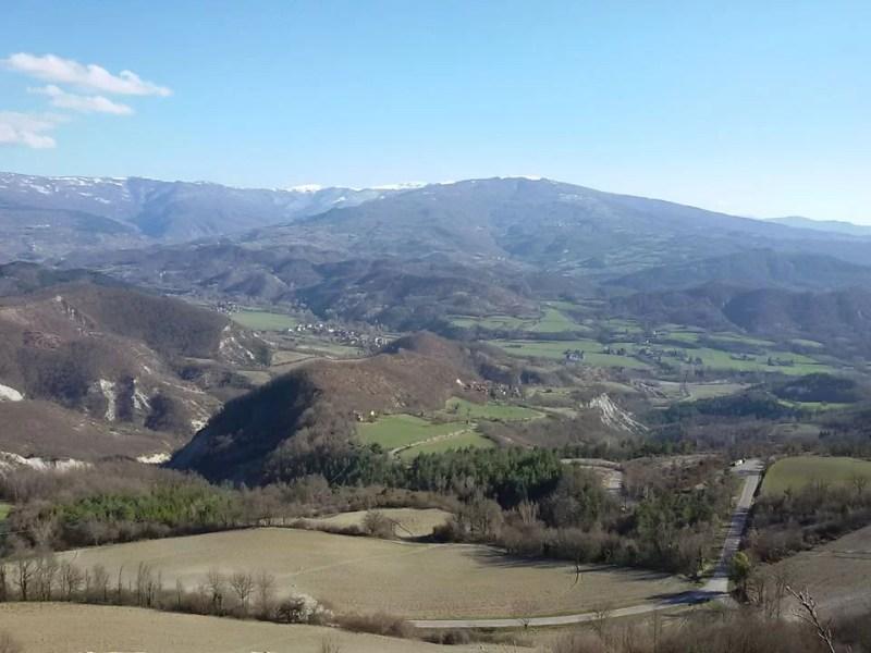 La Val Curone dalla rupe del Guardamonte