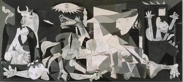 """""""Guernica"""", Pablo Picasso, 1937, olio su tela, 349x776cm - Museo Nacional Centro de Arte Reina Sofia, Madrid"""