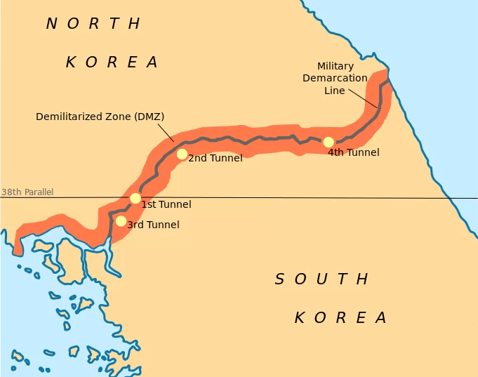 muri nel mondo - il muro di Corea