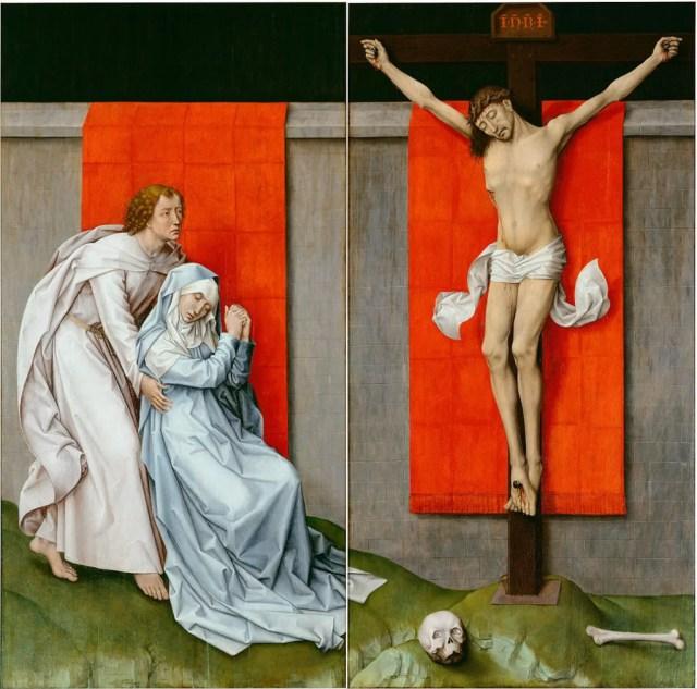 ROGIER VAN DER WEYDEN, Dittico della Crocifissione, olio su tavola, 1450-55, Filadelfia, Philadelfia Museum of Art