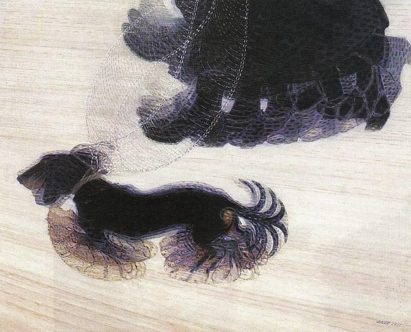 Dinamismo di un cane al guinzaglio di Giacomo Balla
