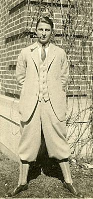 Theodor Seuss Geisel, 1925, while a student at Dartmouth (courtesy of the Dartmouth College Library)