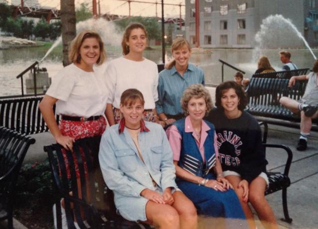 The 198?-??  Pi Beta Phi Consultants with Beth Beatty, GVPC, who served as a consultant before there was an organized consultant program.