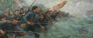 The Battle of New Market painting which hangs in the Alpha Tau Omega headquarters in Indianapolis.