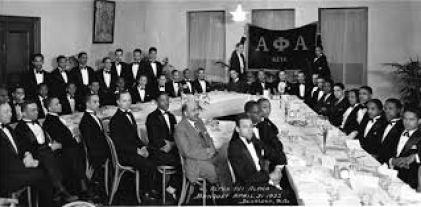 Dr. Du Bois with the Howard University chapter of Alpha Phi Alpha