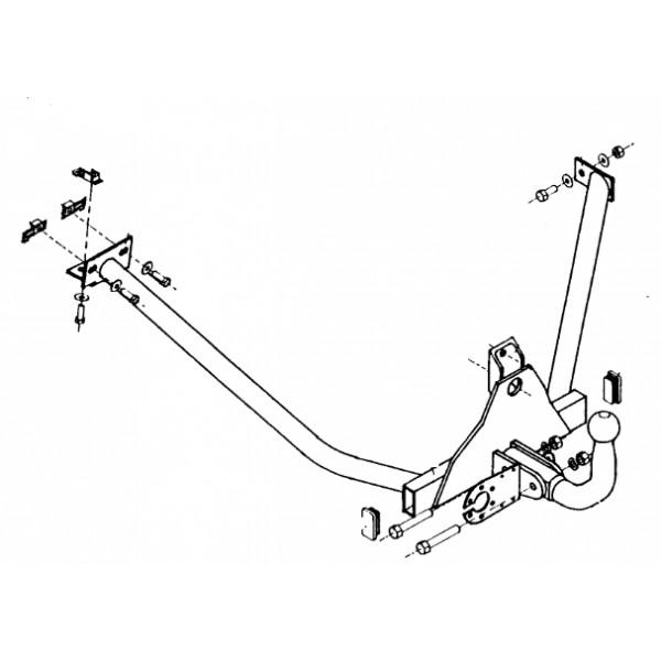 Attelage Peugeot 205 Col de cygne 8237