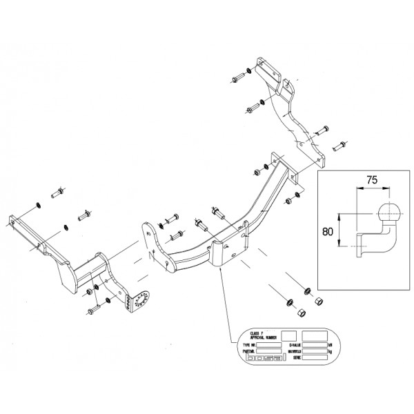 Attelage Ford Transit Connect Standard 8377