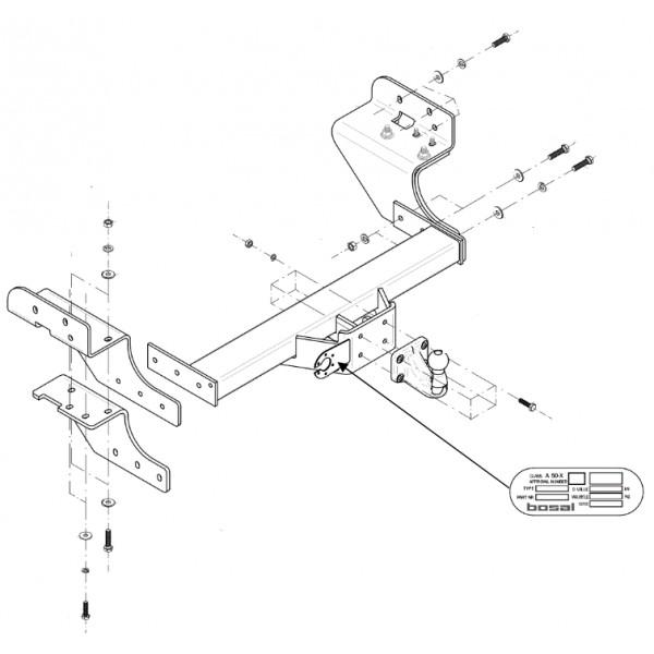 Attelage Isuzu D-Max 4x2 Standard 9782