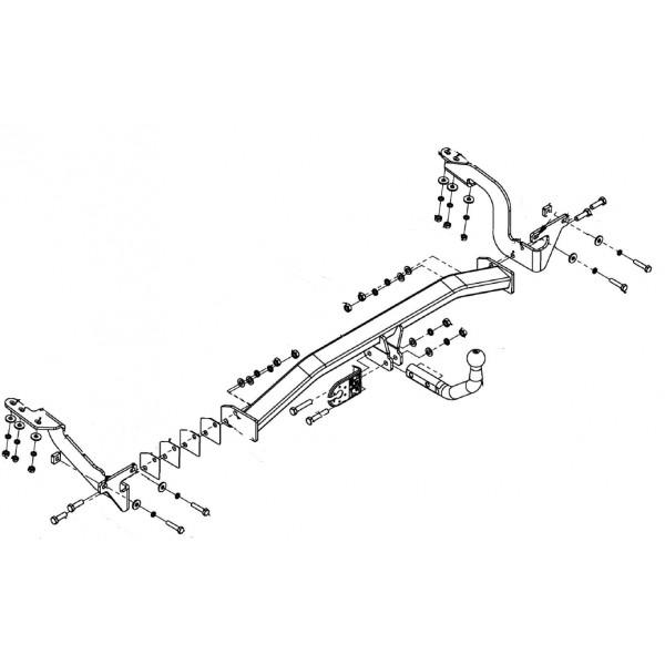 Attelage Citroen C4 Picasso Col de cygne + faisceau