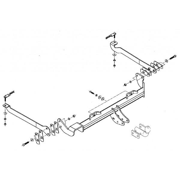 Attelage Citroen Xsara Break Col de cygne 9117
