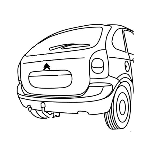 Attelage Citroën Xsara Picasso Col de cygne 8088