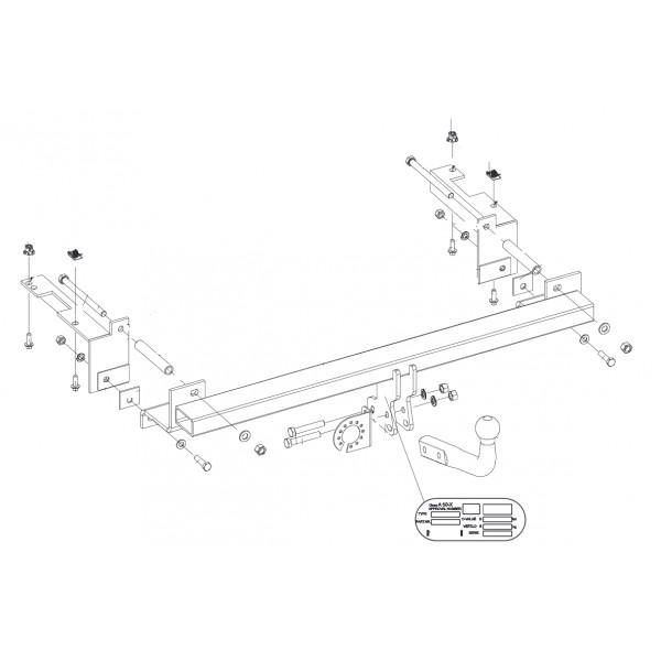 Attelage Opel Zafira Col de cygne 8140
