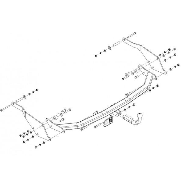 Attelage Renault grand espace Col de cygne + faisceau