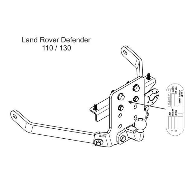 Attelage Land Rover Defender Standard 13121