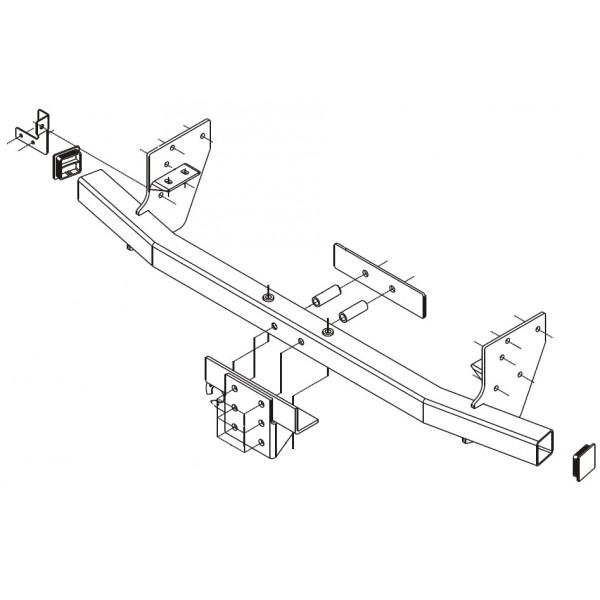 Attelage Isuzu D-Max 4x4 Pare-Choc Tube Standard 3623