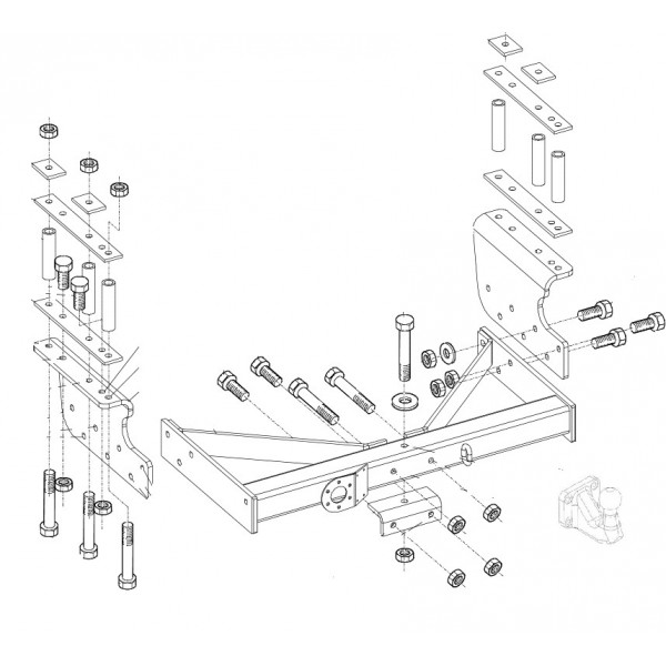 Attelage Iveco Fourgon 35C 40C 45C 50C Standard + faisceau