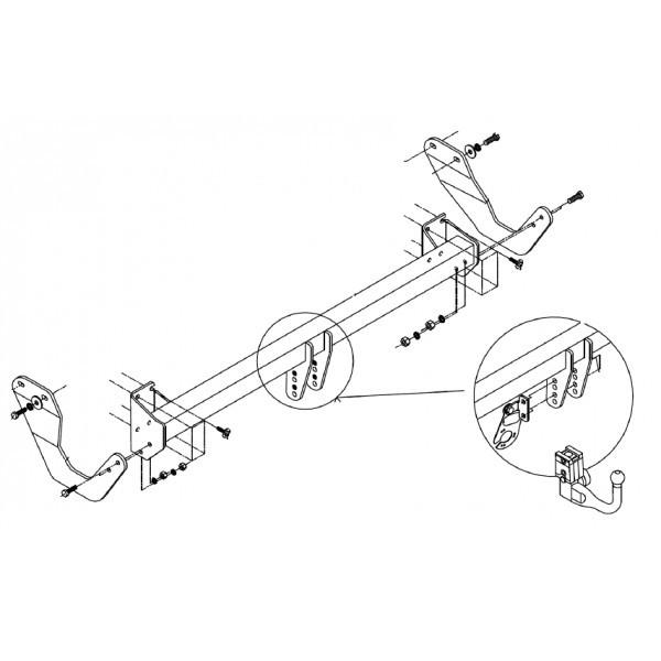 Attelage Peugeot 407 Break RDSOV + faisceau universel