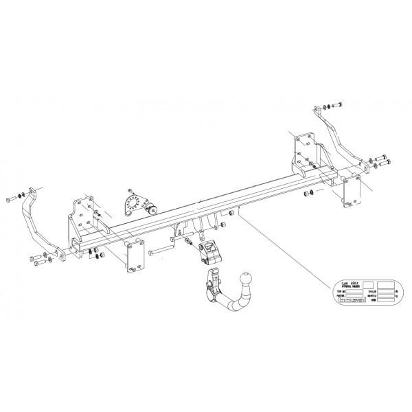 Attelage Peugeot 407 RDSOV + faisceau universel 7 broches