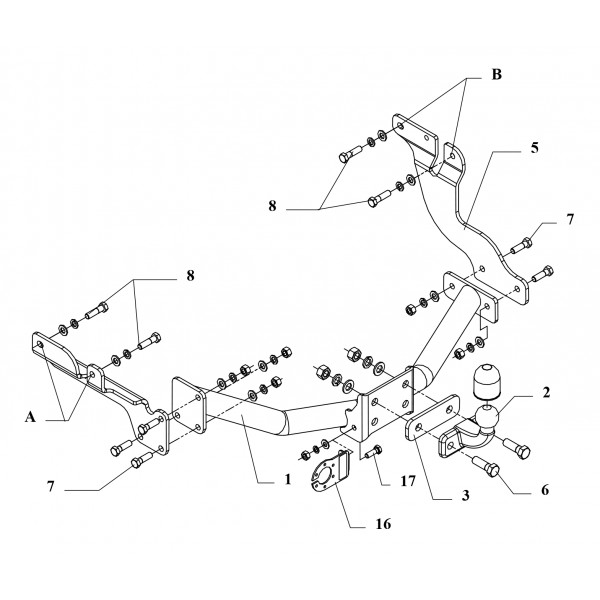Attelage Ford Transit Connect / Tourneo Connect Standard 16668