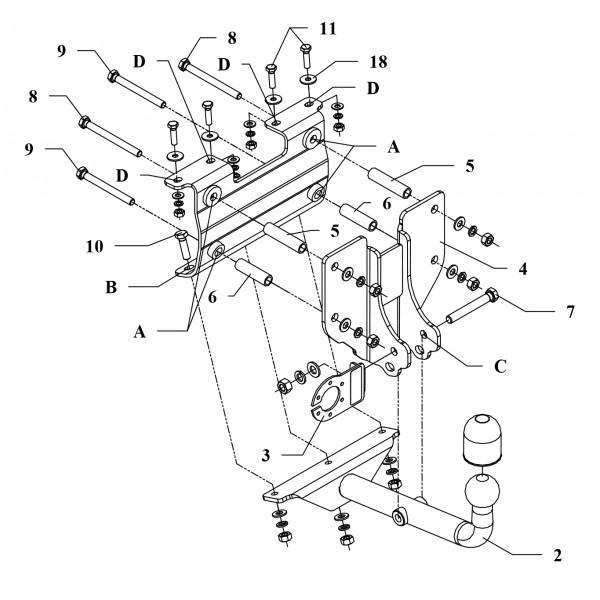 Attelage Opel Astra F Break Col de cygne + faisceau