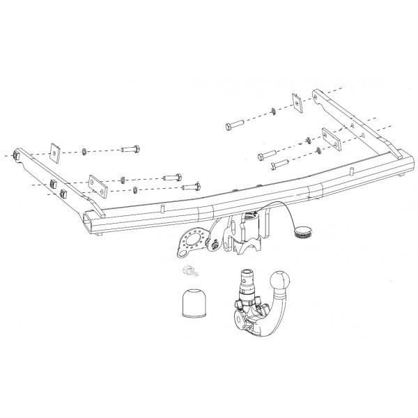 Attelage Ford S-Max RDSOV + faisceau universel multiplexé