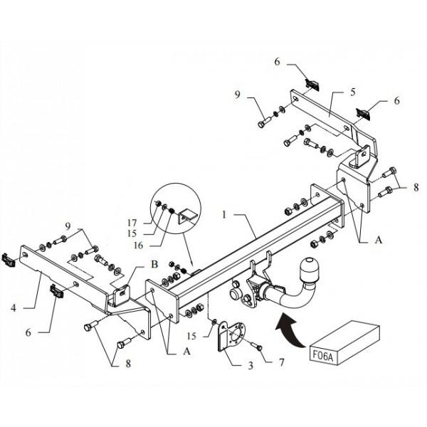 Attelage Peugeot 406 RDSOH + faisceau universel multiplexé