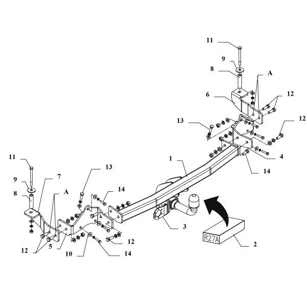Attelage Fiat Doblo RDSOH + faisceau universel 7 broches 22515